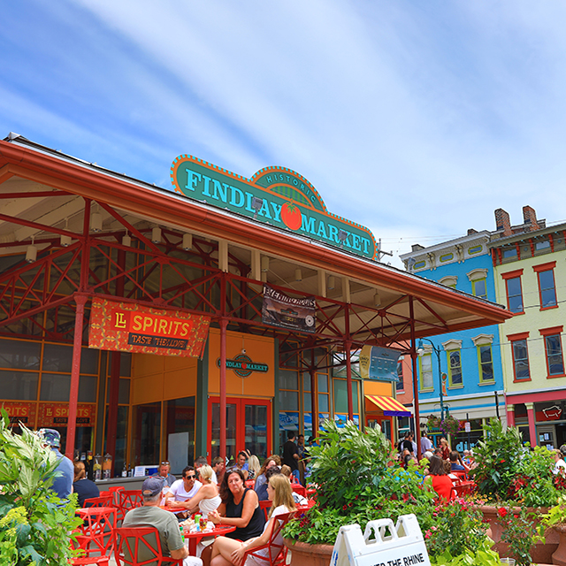Business Services practice area with photo of Cincinnati Findlay marketplace